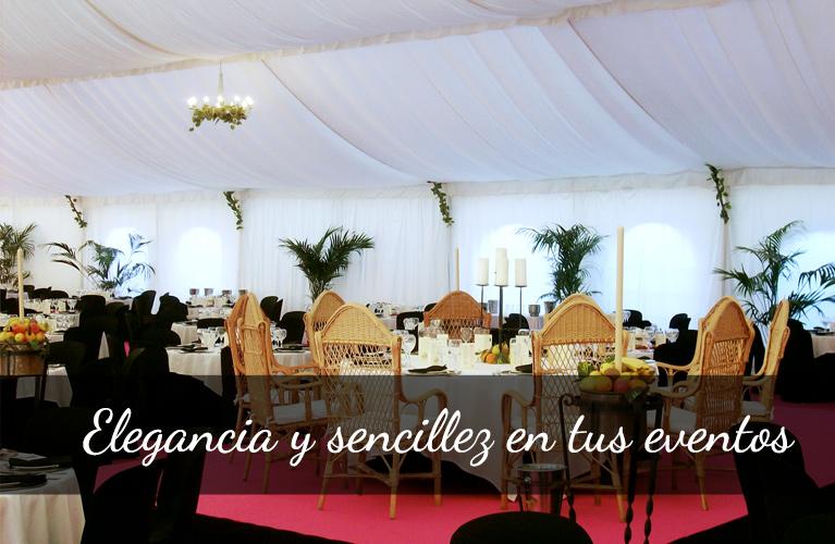 mesas y sillas para eventos en Huelva